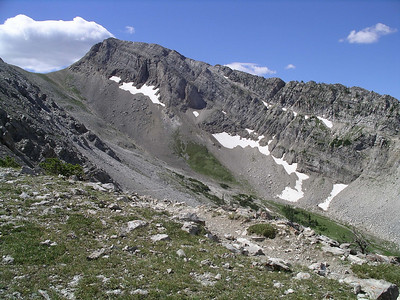 Top of Headquarters Pass, the trail heading down the other side!