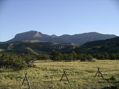 Headed for the 7 Lazy P Ranch outside of Choteau. Ear Mountain (elevation 8580)