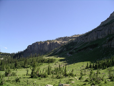The meadows below Sock Lake.