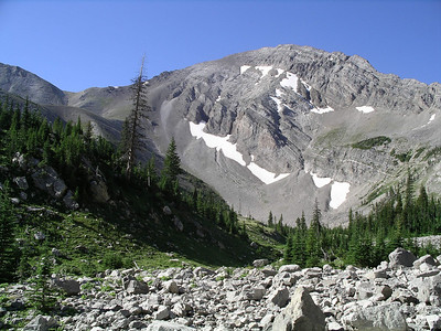 Along the trail going over Headquarters Pass.