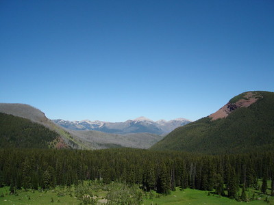 More in the Sock Lake area.  This is looking back towards Headquarters Pass.