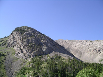 Looking up at Headquarters Pass.
