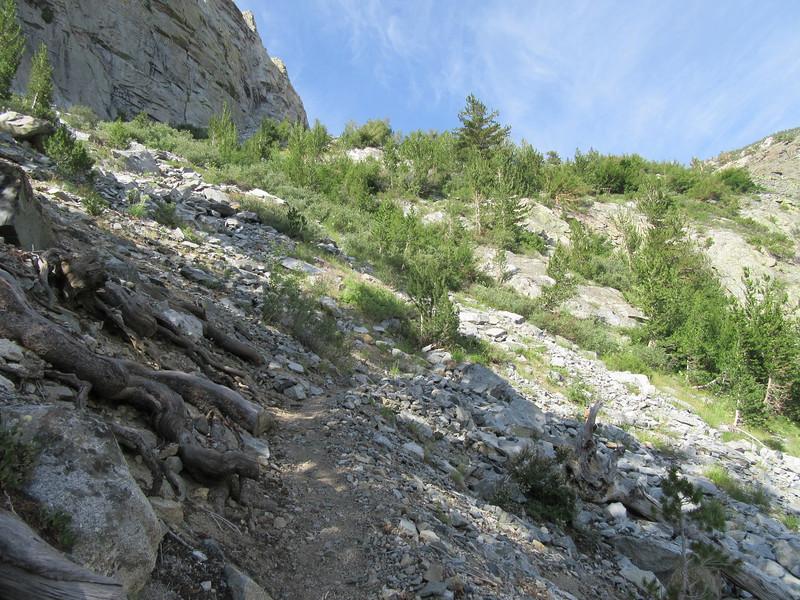 "... I began the steep climb up ""the wall,"" ..."