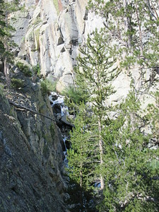 I then headed up the trail toward Brainerd Lake, passed one waterfall by ...