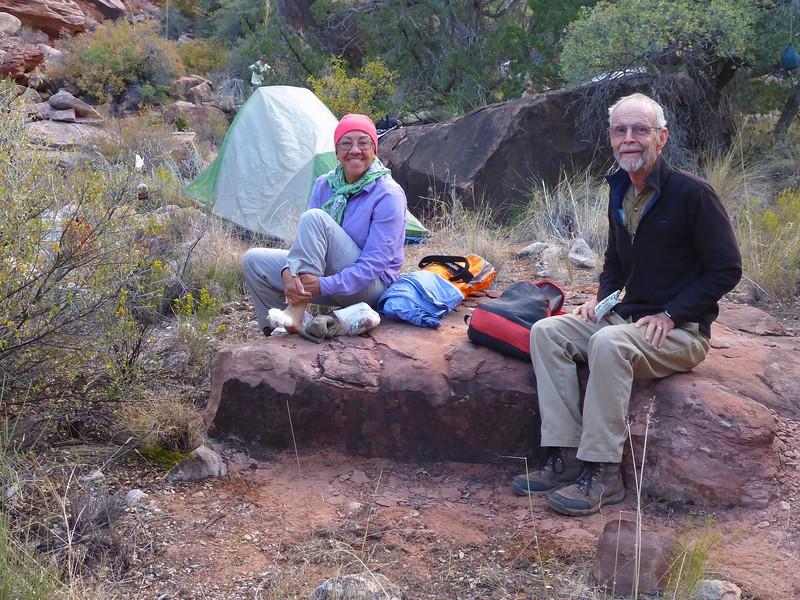 Day 4  - Greg and Mirna at Ojojojo camp.