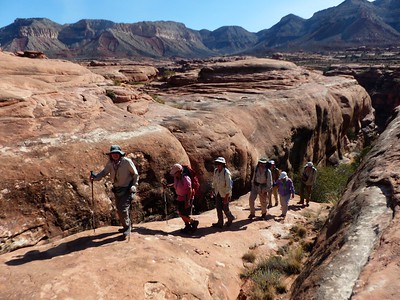 Day 2 - Climbing out of Sowats Canyon on our day hike to the Jumpup.