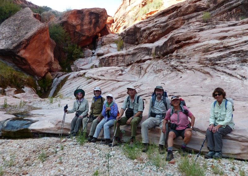Day 2 - An orderly group in Jumpup Canyon.