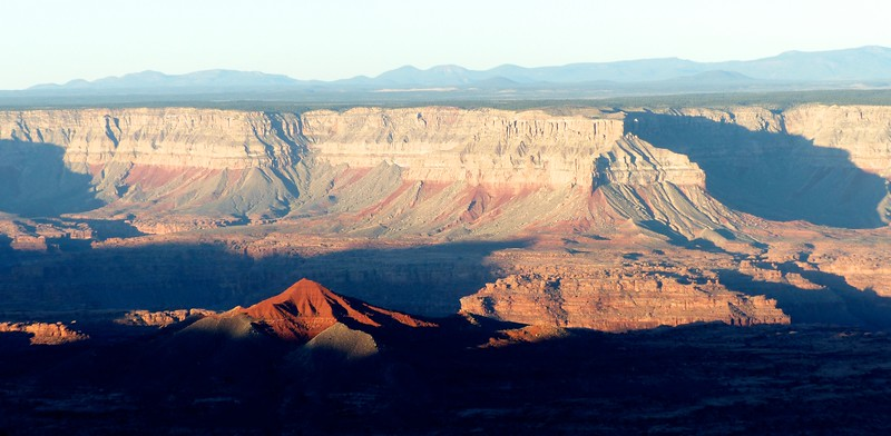 View of Racetrack Knoll and the far side of the Kanab Creek Drainage from Sowats Point.