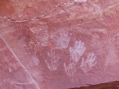 Day 1 -  Petroglyphs at Sheep Mountain Springs Camp.