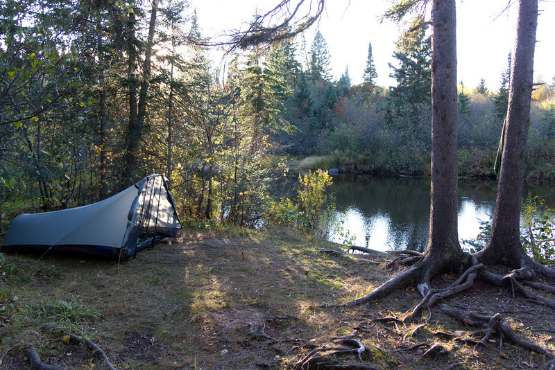 I found a nice campsite here alongside the Poplar River for the first night.