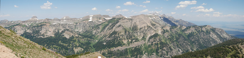 Panorama looking N from top of Jackson Hole Tram.