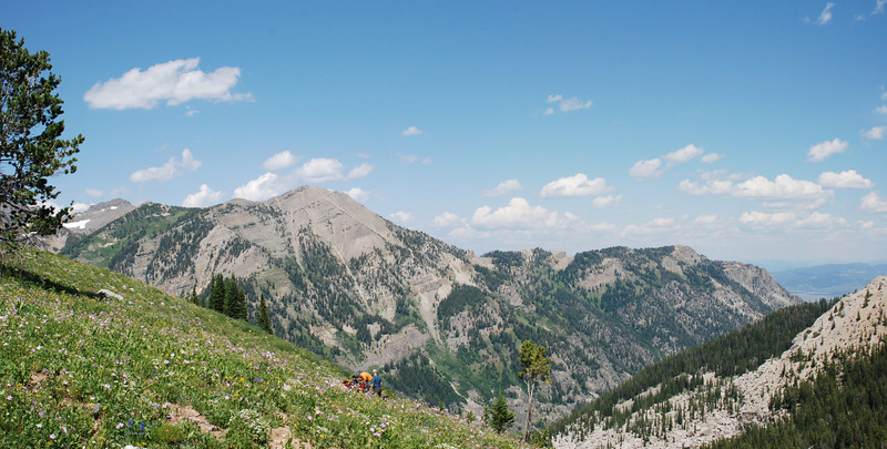 Looking back to the E from the trail to Granite Canyon.