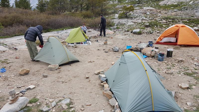 Thousand Island Lake campsite.