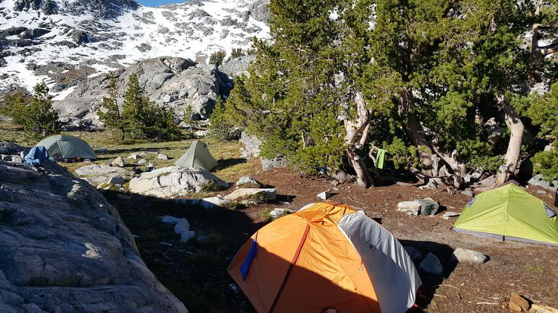 Garnet Lake campsite.