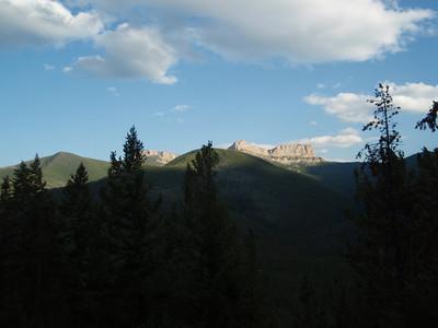 Along trail # 155, views of Gable Peak (elevation 7698)