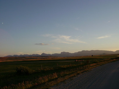 The rocky mountain front is very beautiful, this road travels 20 miles into the trail head.