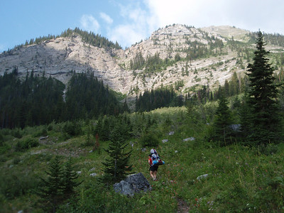 DAY 2:  Jodie heading up the Badger Pass Trail, part of Family Peak (elevation 8086)