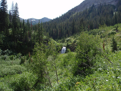 Waterfall in North Birch Creek, as we start up Badger Pass on our 2nd day.