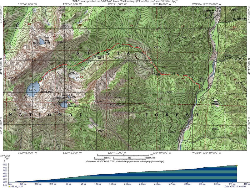 Trinity Alps - Big Bear Lake (17June06) - TeleK