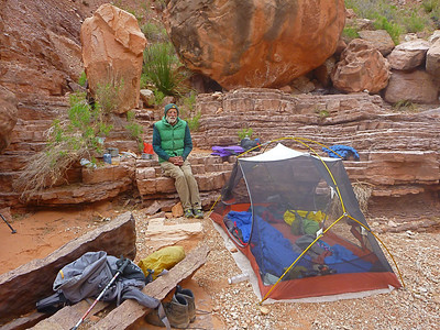 Camp 4 was a dry camp, just 100 feet north of the top of the big 200-foot dryfall.