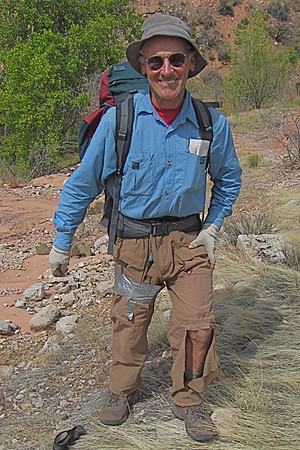 I had some problems with my hiking pants this trip.<br /> Photo by John Otter