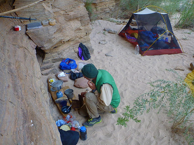 Camp 2 was under an overhang near the Colorado River.