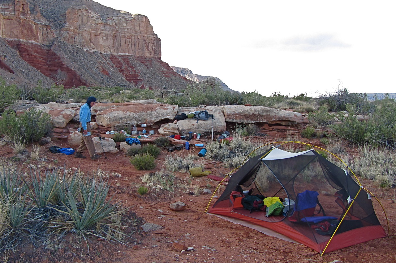 Camp 6 was a dry camp, not far past Tuckup Point.<br /> Photo by John Otter