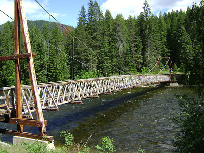 Same bridge we started on!  Much prettier now in the sun!