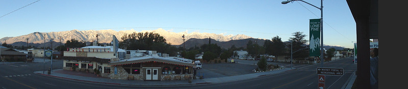 Panorama from porch of Whitney Hostel