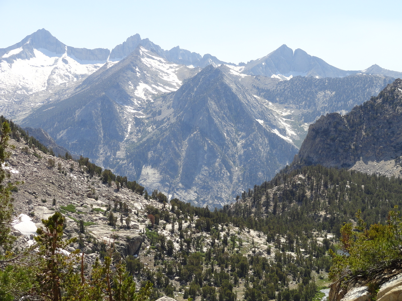 Mt. Bago (?) from the Kearsarge Pass trail.