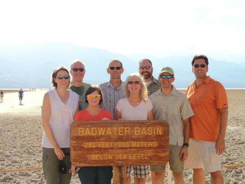The perfect way to acclimatize for a high altitude trip - spend some time immediately beforehand below sea level!<br /> L-R: Coleen, David S., Robin, Brian, Susan, David M., Kirk, Chris.