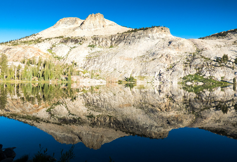 May Lake looking towards the buttresses of Mt. Hoffman