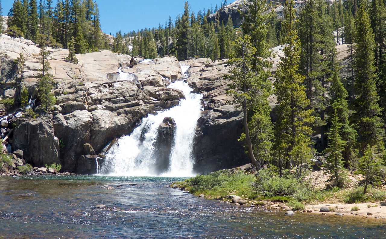 White cascade of the Tuolumne