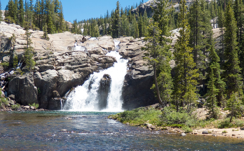 White cascade of the Tuolumne