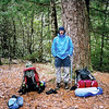 I have to do the similar pose at Big Pine Camp.  I am wearing my Marmot Minima gtx jacket and my old North Face gtx rain pants and I think a pair of Asolo FSN 95 boots.