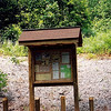 Unicoi Gap has been greatly improved but sadly the King Rednecks came thru and all this has since been defaced.  The kiosk has been ripped clean of info and the metal table history display has been scraped clean.