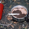 While camped on Hangover Mt I cook up some Mary Jane's Farm black bean soup on my MSR Whisperlite stove.