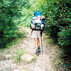 Trail 268A follow an old road we used to drive up back in the 1980's but since closed and made into a foot trail.  Johnny is humping his Kelty pack.