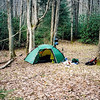 The green Hilleberg Staika fits well in Iron Camp on the South Fork trail.