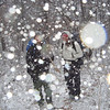 Two backpackers climb 3,000 feet into a deteriorating situation and I catch them just as the blizzard intensifies.  They survey the high gap camps and turn around and go back down the mountain.  Why?  Because it's cold.<br /> <br /> JOURNAL TRIP 65<br /> <br /> DAY THREE<br /> <br />  MORNING IN THE SNOW AT NAKED GROUND: Morning brings a frosty tent in 6 degree temps so everything is frozen, I even let the dog inside for the night, a first(see fotog). What happens on a backpacking trip when the temp gets down to 6? 1) The water freezes, 2) All urination is done in a pot inside the tent, 3) The inside of the tent gets coated in frost, 4) The sleeping bag gets moist and loses some of its loft, 5) Sleeping is difficult cuz the bag is zipped tight. These are some of the hassles accrued on a cold trip.<br /> <br />     Well, I see a bright sun rising from the NC side and so I let Shunka out of the lodge and pulled out the candle stub to warm my hands. I gotta go out and check the food bags and feed the dog and get a pot of water for morning tea, it uses up alot of fuel when it's this cold but I cached 22 ozc under a rock at Beech Gap so it's all good, cook up!<br /> <br />     On Whiteblaze.net before I left there was a guy(Mr Parkay)preparing to walk from Davenport Gap south starting on December 6, 3 days ago, but this cold snap might have slowed him down. Anyway, I want to be at Crowders by Sunday and so I hope to see him. These guys go fast so he's probably already thru Citico by now.<br /> <br />     Ok, wow, but an oat breakfast is finished, the hair brushed and the Nalgene filled, trash burned and all is wel as I sit in the sun looking down into the Little Santee valley. My toes are cold in the Croc campshoes but other than this I'm totally warm and happy to be out and to have survived the single digit midgets of last night's ruckus.<br /> <br />     I bet the backpackers I saw yesterday are still in their tent down below in the cold Santee valley but since the storm is over they may return to complete their trip but I doubt it, the cold blew away this trip, that's for sure.<br /> <br />     It is supper time at Naked Ground and this time it's pinto bean flakes turned into a soup with tumeric, olive oil and a little veggie mayonnaise. It is still cold as heck and the sun's leaving my campsite -- goodbye sister orb, I'll see ya tomorrow.<br /> <br />                                THE RUDE ONES<br />     Ok, the pot is cleaned as the camp gets into frigid shadows and I'm already in bed! After sunset 4 backpackers from Chattanooga pop into the gap from Beech Gap and set up camp on the other side of the sundance tree. They whip out the Wild Turkey and turn on a radio, I'll have to tell them to shut it off. Drunks come to the high ground in 10 degree temps, go figure.<br /> <br />     Well, I finally grew a set and told them to shut off the radio! I'll leave in the morning, you can bet on it! I don't know why I keep coming to this spot, Watauga Camp would be better, far better, but last night at Watauga Camp would've been a waste of effort cuz I was all alone here, but on the weekends? Forget about it.<br /> <br />     Tomorrow I hope to climb over the bald and return to the BMT where I might possibly run into a fellow BMT sobo, if not I'll shoot for Crowders and eventually Stiffknee and the Slickrock. Day 4 comes to an end with a whimper from the four drunks across the camp, loud rude rednecks who know nothing about backpacking and camping. Watching them put up a tent(stored wet by the way)should've clued me in on their ineptitude and volatility. Cursing and yelling at each other, think how they'd treat strangers camping nearby but I'm thankfully oblivious to their infantile posturings and babbling attempts at revenge(I DID tell them to cut the radio)since I have earplugs that work.<br /> <br />     Like all miscreants who bring liquor on a camping trip, they lash out when a suggestion is made to alter their puny party plans, I'm just surprised they didn't crank the radio louder. If they realy start to intrude or mess with my gear, hey, I know where they parked! And in the morning I'll make alot of noise myself and teach them something about hangovers and the cold.<br /> <br />     Where is Tulip and Silverwing when I need them? Where is Jody and Robert? George and Whitney? Johnny B and Little Mitten? People who know how to pump nylon and keep their mouth's shut, people who come to the woods to worship not wail, the gnashing of teeth belongs down the mountain in Sodom, leave your booze in the town square of Babel. If ya enter my church without respect, well, it just won't last.<br /> <br />                       <br /> <br /> -Tipi Walter