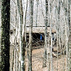 Here's a view of Brown Fork shelter, another dank rat nest.