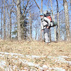 Here I am north of Beech Gap and nearing Cold Gap.  Check out the new pack!