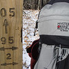 Here's a closeup of both the trailpost and the G6000 pack.  105 is South Fork and 95 is Fodderstack Ridge.  2 is the BMT.