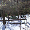 Another shot of Middle Dog Camp with the creek on the other side of the tent.