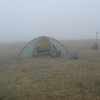 On Day 3 and after climbing 3,000 feet in 7 miles I reach Whiggs Meadow shrouded in a December fog.