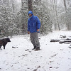 A sleetstorm provokes glee in goretex at Horse Camp on Brookshire Creek.  I'm wearing my gtx Marmot jacket and my old gtx North Face rainpants.