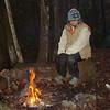 Mitten gets a rare event---a campfire, something I rarely do when I'm solo.