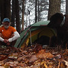 Here I am hanging out in Nettle Camp on the early part of the Fodderstack trail near Beech Gap.