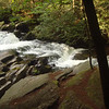 The hike out of Bald River backcountry passes by the Cascades in low water.