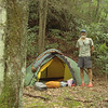 Jeffrey Hell ends up here on the South Fork Citico so I set up at a brand new camp by the trailpost.